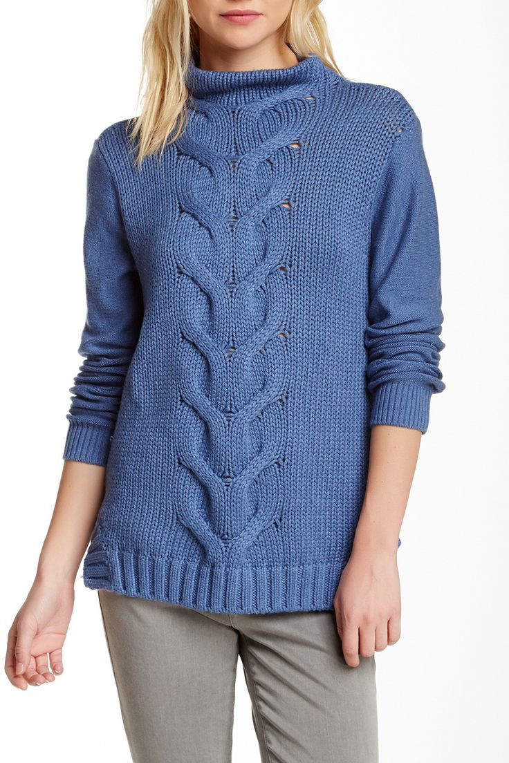 Cullen | Cable Knit Front Sweater | HauteLook
