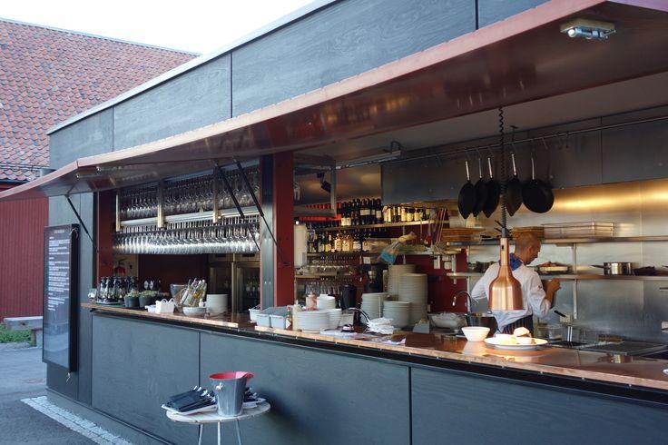 Spritmuseum outdoor café, Stockholm