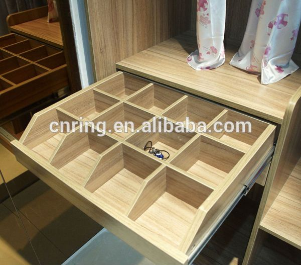 Fashion Closet Design Idea Pvc Membrane Door Finish Wood