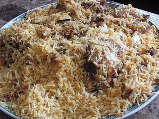 Saudi Arabian: Kabsa recipe. A traditional rice dish.