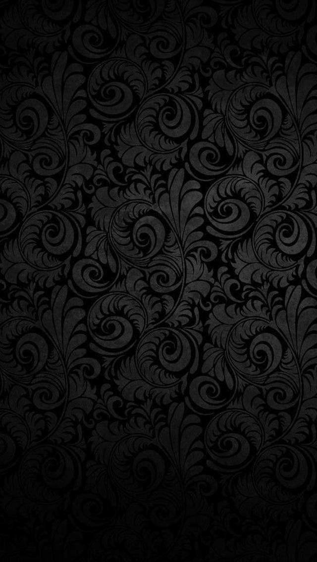 Dark Flower Texture Pattern iPhone 5 Wallpaper