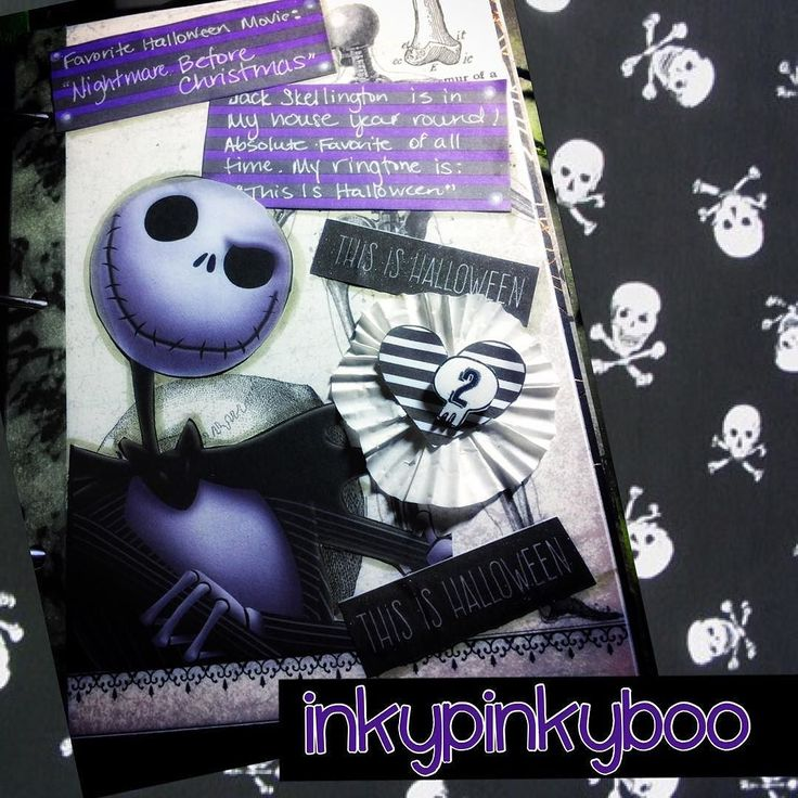 #day2 in my #octoberdaily Album #favorite #Halloween #movie #nightmarebeforechristmas of course. I love several others but #jackandsally win my heart! Love it so much my #ringtone on my phone is #thisishalloween #inkypinkyboo #papercrafting #october