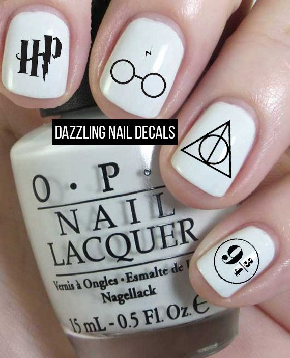 Harry Potter Nail Decals by DazzlingNailDecals on Etsy https://www.etsy.com/listing/241849849/harry-potter-nail-decals