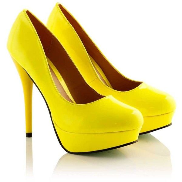 Ashly Yellow Neon Platform Court Shoe (64 MYR) ❤ liked on Polyvore featuring shoes, pumps, heels, high heels, sapatos, zapatos, neon platform pumps, high heel shoes, yellow heels pumps and heels & pumps