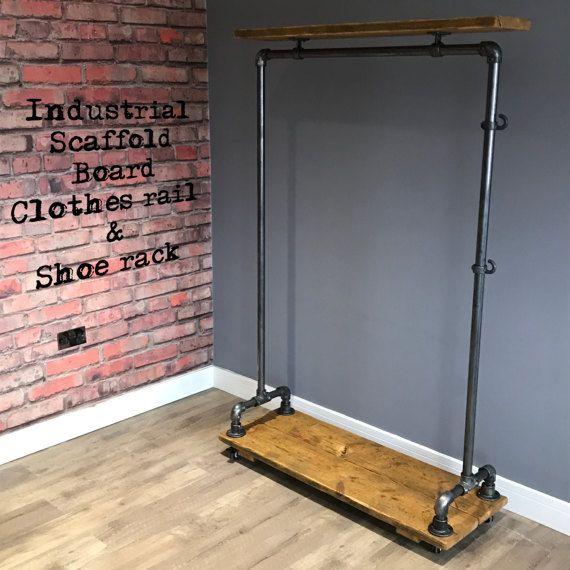 Reclaimed Industrial Scaffold Pole  Scaffold Board by ReFrmd