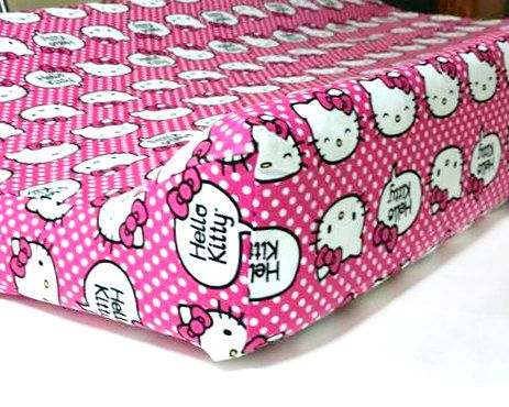 Hello Kitty Baby Changing Pad cover / Girl Changing Pad cover/Baby Shower Gift