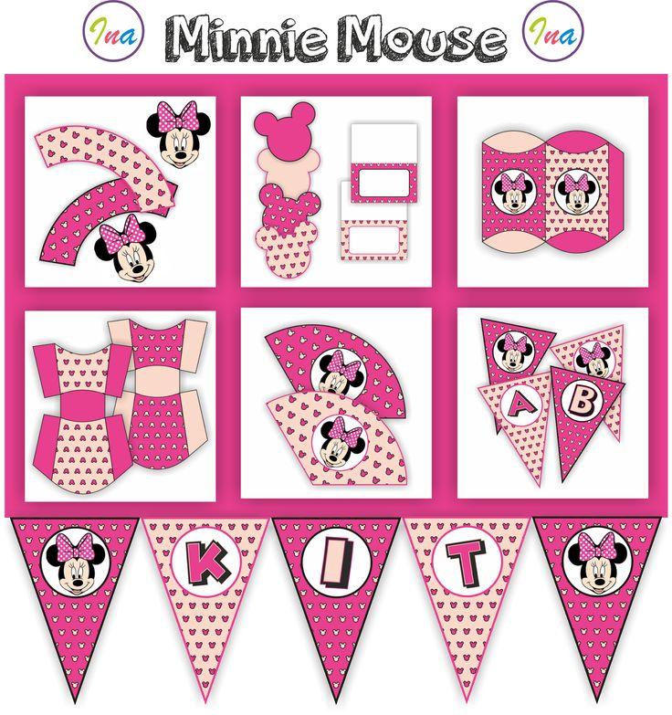 Hola!!! Os traigo imprimibles para hacer una fiesta temática de Mickey y Minnie Mouse, para que podáis amenizar, fiestas, cumpleaños, evento...