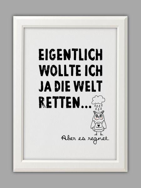"""""""DIE WELT RETTEN"""" Kunstdruck von Smart-Art Kunstdrucke auf DaWanda.com"""