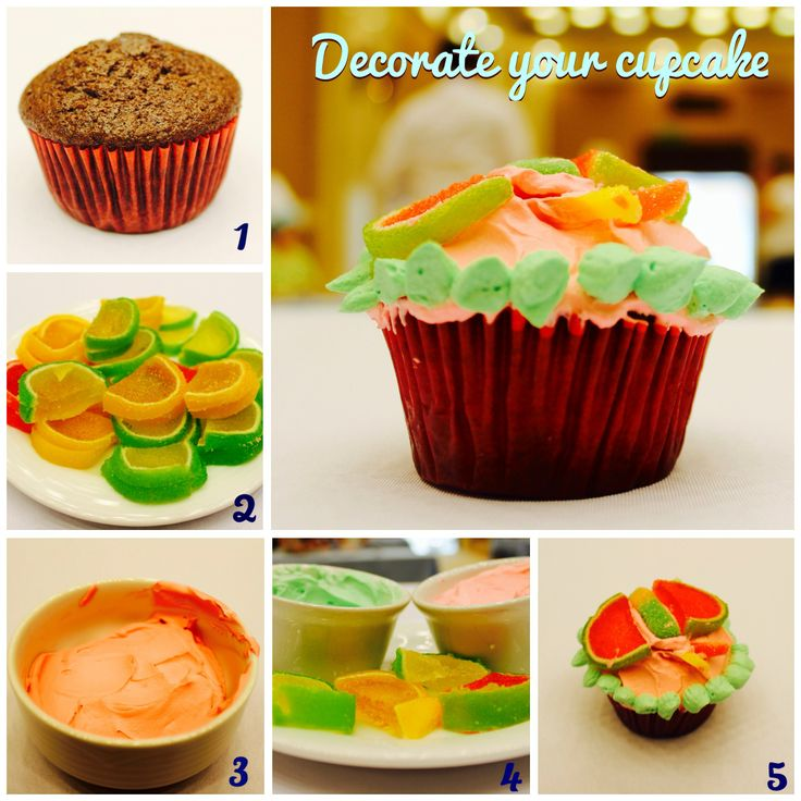 How to decorate a cupcake?   In #GrandVelas #RivieraNayarit Kids Club we learned how to do it in a creative way.