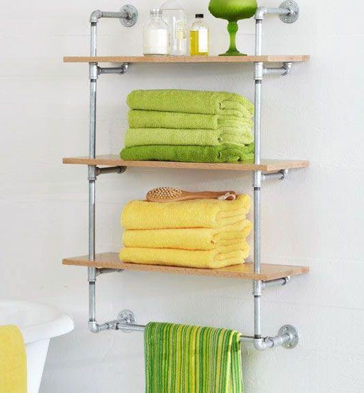 M s de 1000 ideas sobre ba o con toallero en pinterest - Estantes de metal ...