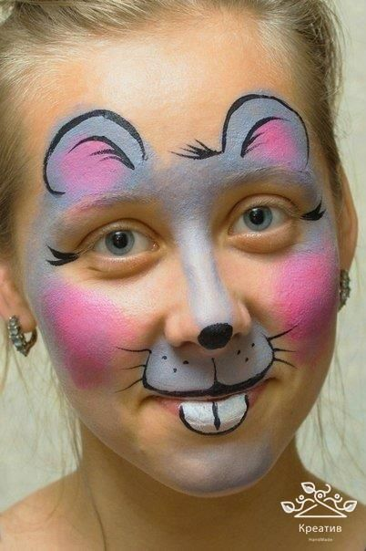 Schmink muisje. mouse painting on face