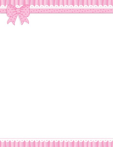 Printable pink ribbon border. Free GIF, JPG, PDF, and PNG downloads at http://pageborders.org/download/pink-ribbon-border/. EPS and AI versions are also available.