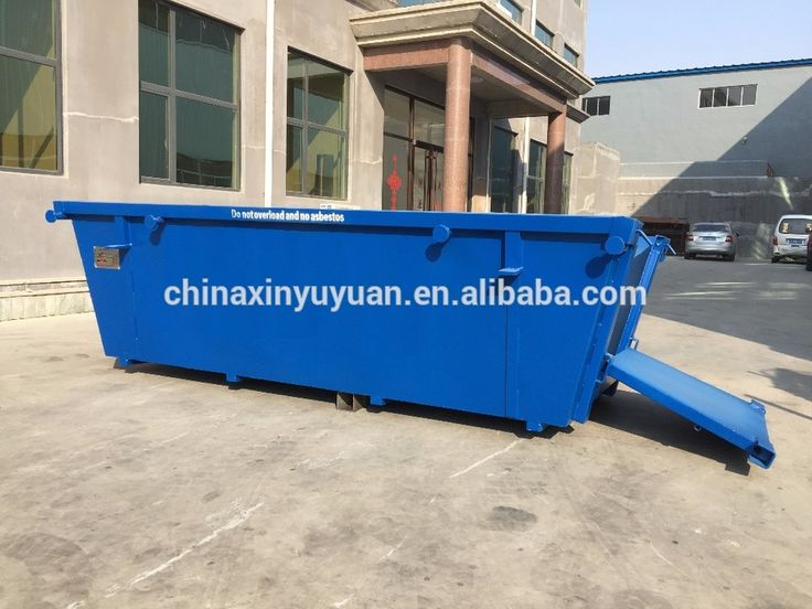 3-20 cbm industrial steel waste metal garbage collection equipment skip bins for sale