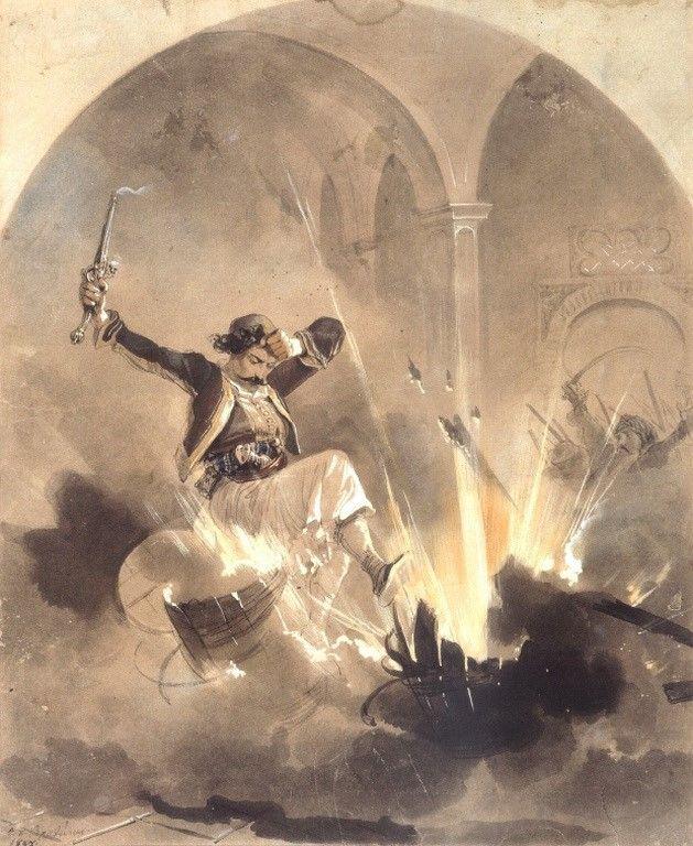 Βρυζάκης Θεόδωρος-Η καταστροφή των πυρομαχικών, 1857