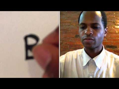 How to Write the Letter 'B' in its Simplest Form by Using a Calligraphy Pen