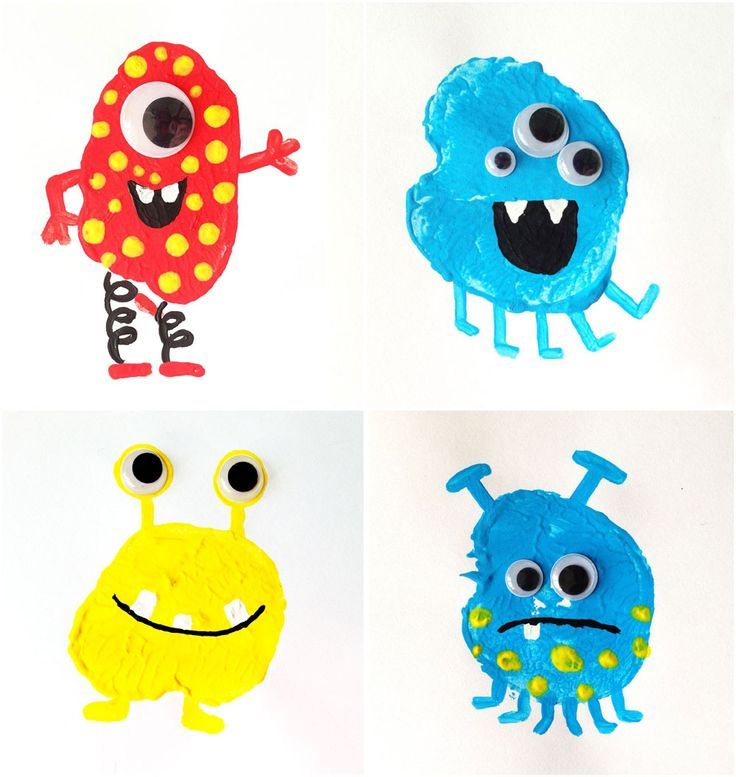 Potato Printing Monsters for everyday fun