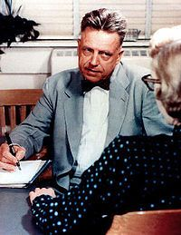"""Alfred Charles Kinsey was an American biologist, professor of entomology and zoology, and sexologist. He is best known for writing """"Sexual Behavior in the Human Male"""" (1948) and """"Sexual Behavior in the Human Female"""" (1953), also known as the Kinsey Reports, as well as the Kinsey scale. Kinsey's research on human sexuality, foundational to the field of sexology, provoked controversy in the 1940s and 1950s."""