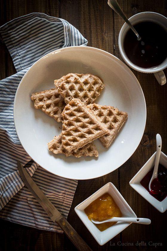 Waffles integrali ai sei cereali