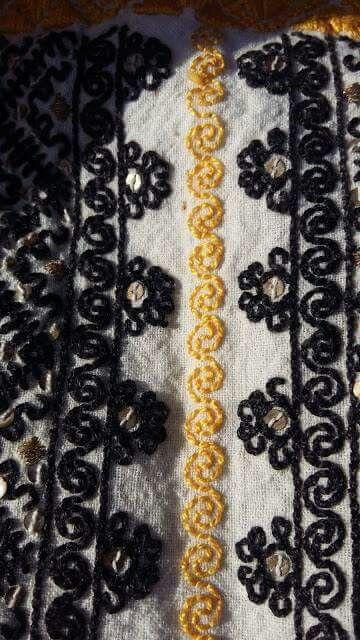 Romanian blouse detail Sohodol-Rasnov (Brasov). c/o Sanda Luiza Goga
