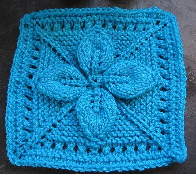 """9"""" Lucky 4-Leaf Afghan Block. For a beautiful blanket"""