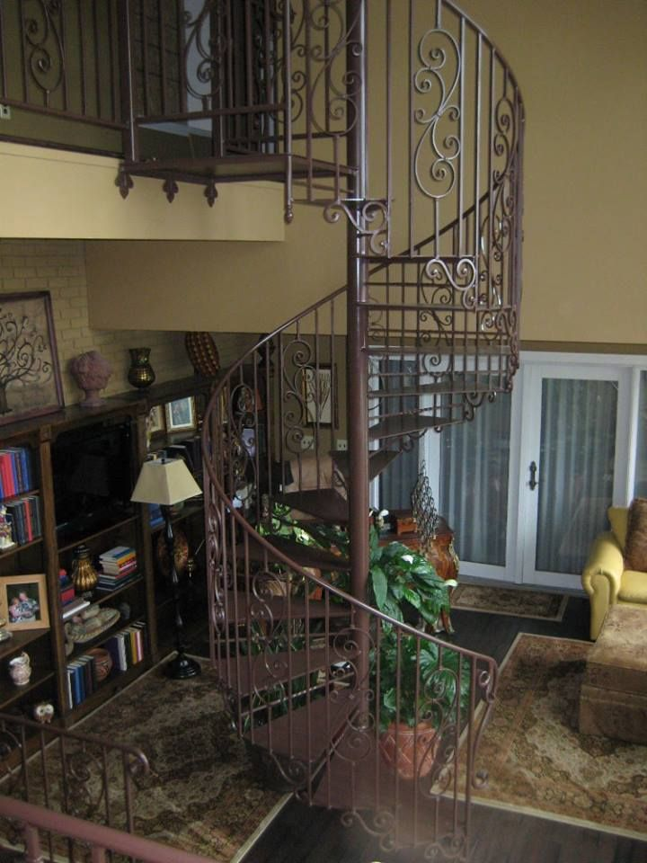 Best Ornate Indoor Spiral Staircase In Brown Bluefield West 640 x 480