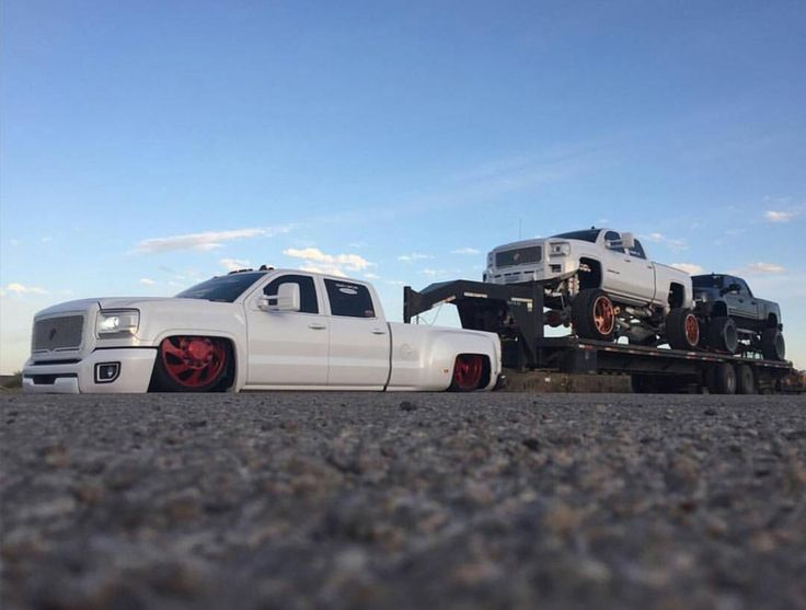 Duramax - Yes, bagged trucks CAN tow.