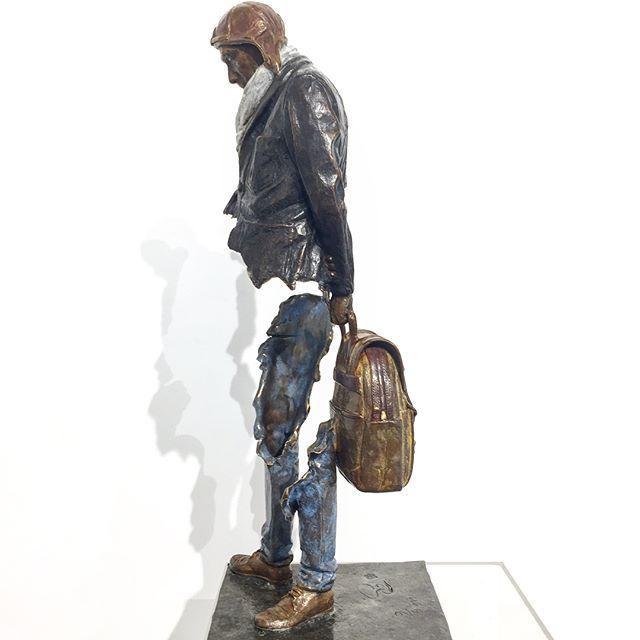 "Bruno Catalano ""L'ÉTOFFE DES HÉROS "" DIMENSION : 55x29x21 cm www.demedicis-gallery.com"
