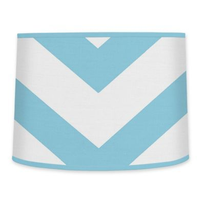Sweet Jojo Designs Chevron Lamp Shade in Turquoise and White