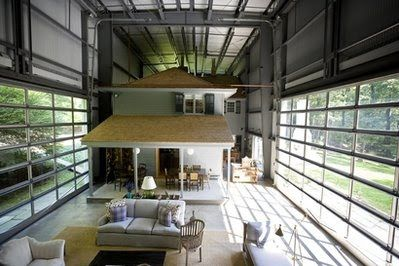 Home Is An Old Aircraft Hangar The Bunny Lane House