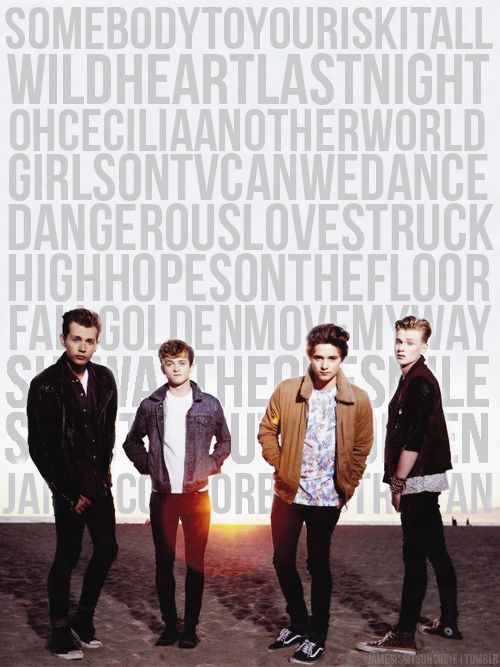 The Vamps and all of their songs. LOVE THEM billions <3
