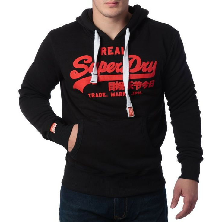 """Ανδρική Μπλούζα Hoodie """"Super Dry """" Real - Μαύρο  http://brands4all.com.gr/collections/mens-sweatshirt/products/super-dry-real-1"""