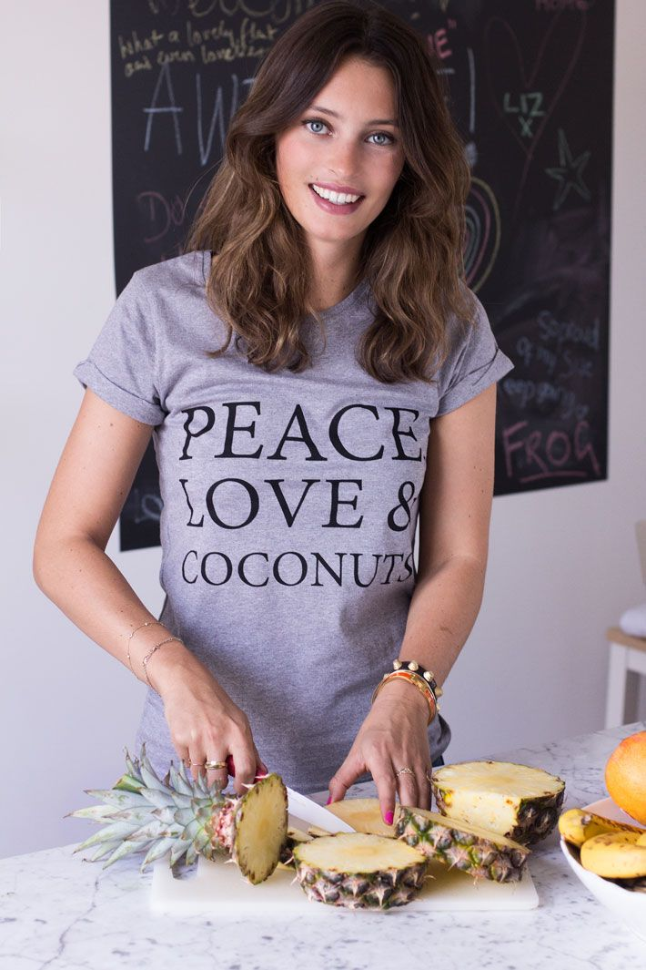 Peace, Love and Coconuts T-Shirt by Deliciously Ella