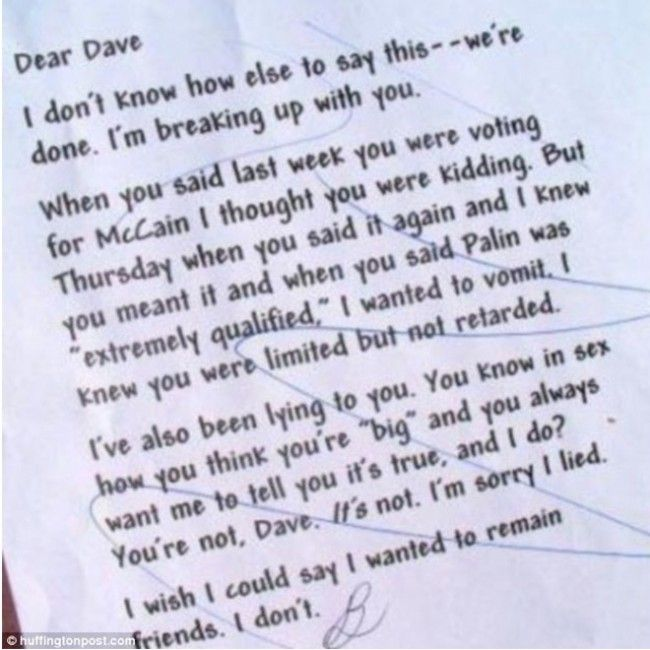 15 best BEST BREAK UP LETTERS images on Pinterest Break up - breakup letters