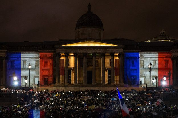 London Vigil Honors Victims Of Paris Terror Attacks