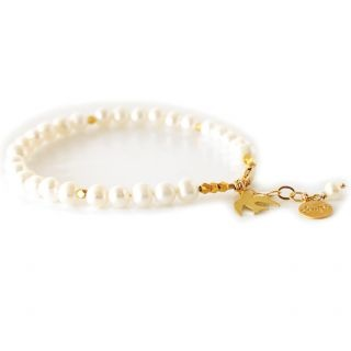 Oh What a Charmer Bracelet in Freshwater Pearl