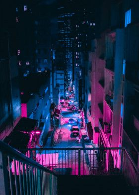 Hong Kong Neon by Steven Roe | metal posters – Furlo