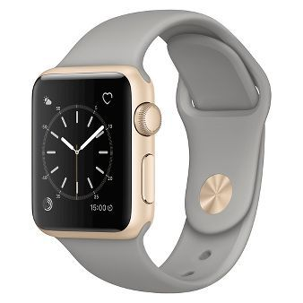 Apple® Watch Series 1 38mm Gold Aluminum Case with Concrete Sport Band