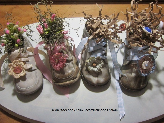 Old Repurposed Vintage Baby Shoes Old And Repurposed