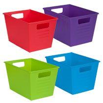 Bulk Colorful Plastic Locker Bins With Handles At