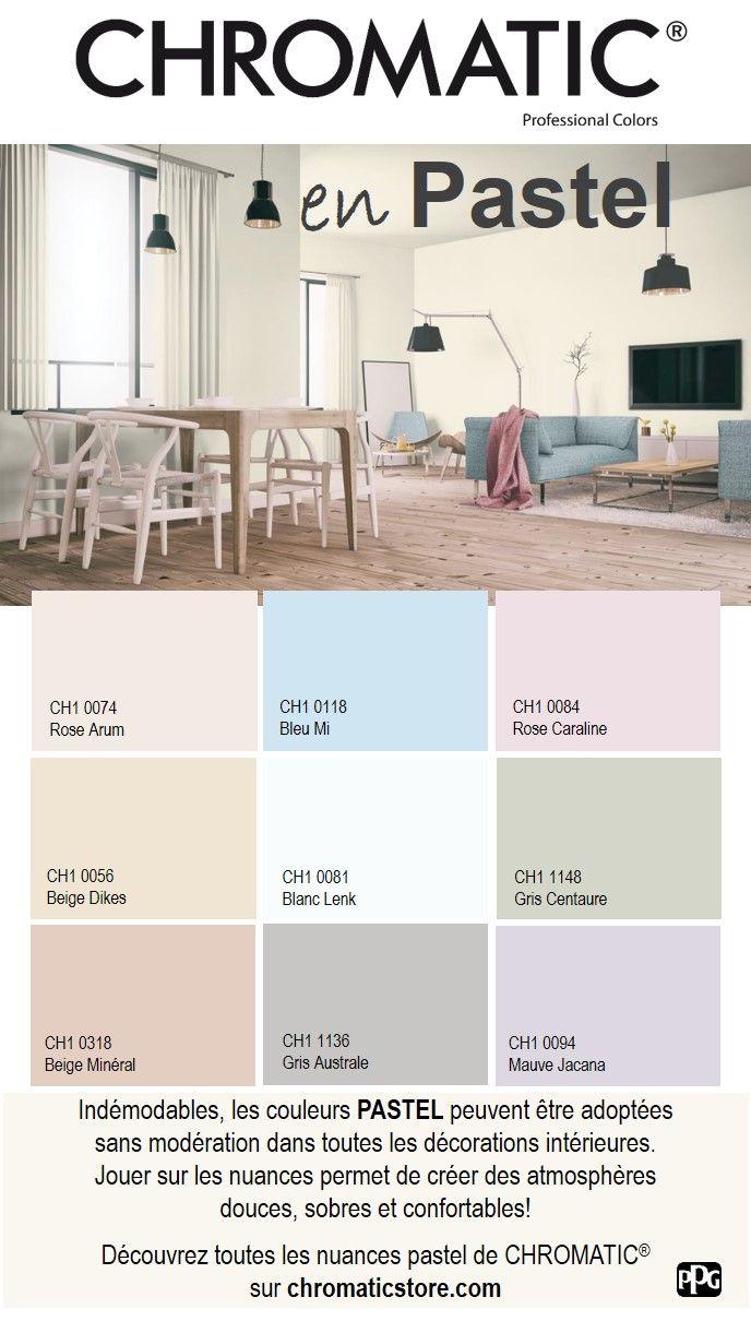 Indémodables, les #couleurs #PASTEL peuvent être adoptées sans modération dans toutes les #décorations intérieures. Jouer sur les nuances permet de créer des atmosphères douces, sobres et confortables! Découvrez toutes les nuances pastel de CHROMATIC® sur www.chromaticstore.com