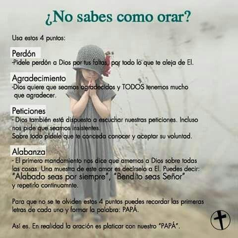 Como orar, Dios, oración