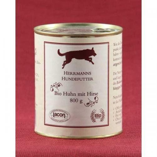 Aus der Kategorie Bio-Futter  gibt es, zum Preis von EUR 45,95  Das naturbelassene Futter für einen gesunden Hund - glutenfrei<br /><br />Herrmanns Bio-Huhn mit Hirse und Gemüse<br />- ideal für die Arthrosekranken oder einfach nur weil es lecker schmeckt<br /><br />Das hochwertige, glutenfreie Herrmanns Menü besteht aus bestem Bio-Huhn ist vitaminreich und sehr bekömmlich.<br />Herrmanns Bio-Huhn mit Hirse und Gemüse ist optimal für Hunde mit Gelenkbeschwerden geeignet, da Hirse die für den…