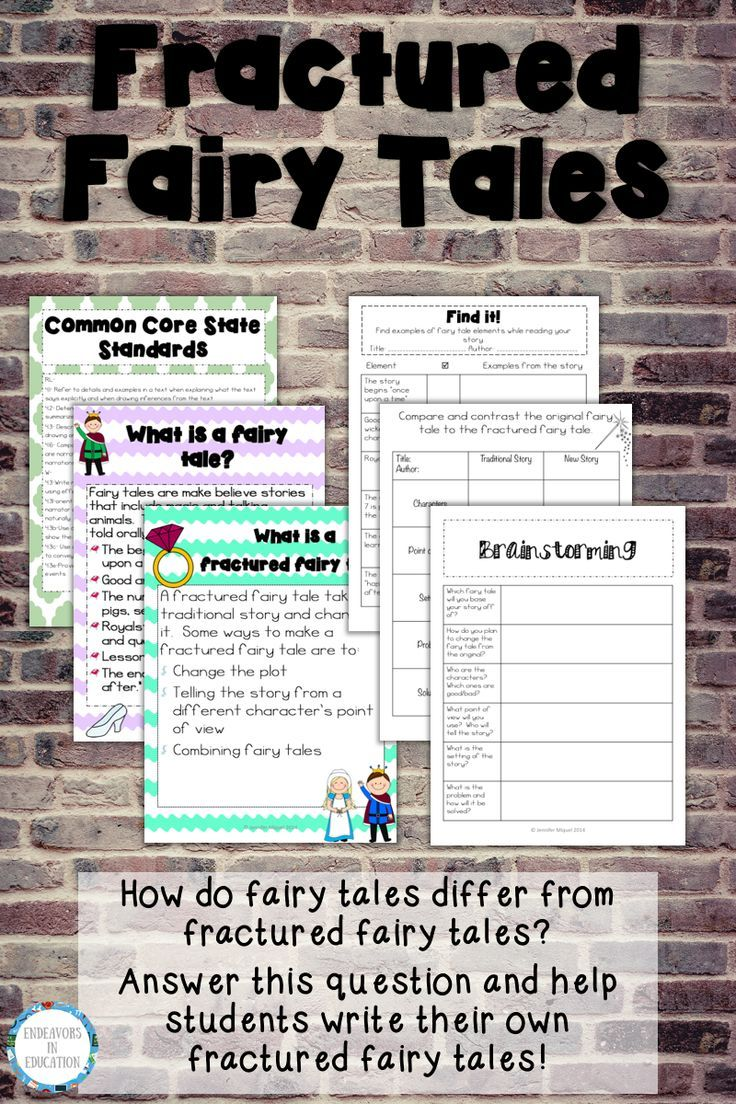 Teach Your 3rd 4th And 5th Grade Students The Difference Between A Fairy Tale And A Fractured Fairy Tale O Fractured Fairy Tales Fairy Tale Writing Writing