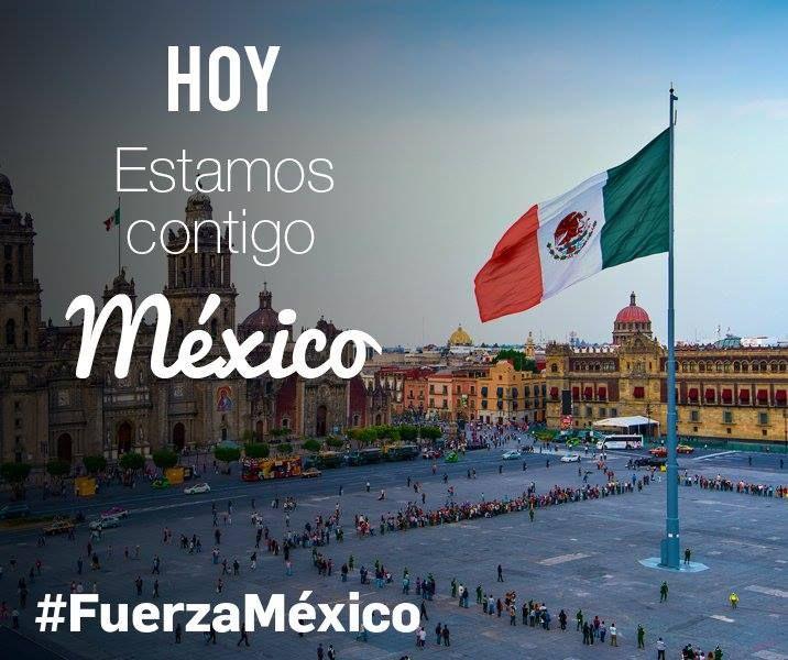 Empezamos el día con la vista y el corazón en#Méxicotras el fuerte#terremotoque sufrió hace 12 horas. A la espera de recibir noticias de los#Salesianosde allí, nuestra#Solidaridadcon las víctimas y con todos los afectados.