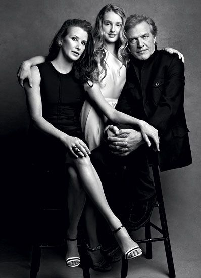 BALLERINA DARCI KISTLER AND NYC BALLET DIRECTOR PETER MARTINS, WITH DAUGHTER TALICIA, 2010  Photographed by Patrick Demarchelier      Read More http://www.wmagazine.com/celebrities/2012/06/fashionable-fathers-w-archives-ss#ixzz1xt4SZbUs