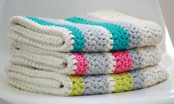 Modern Crochet Baby Blanket Organic Cotton by FoxAndRebel ...