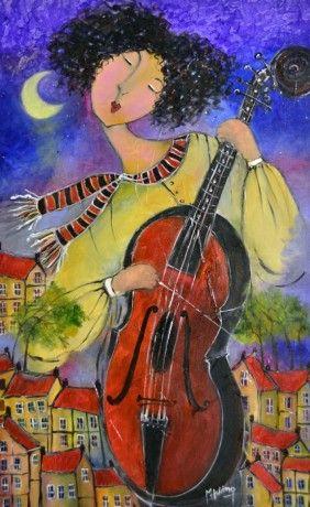 La Nuit Sous Les Etoiles by Patricia Huong, Acrylic on Canvas, Painting | Koyman…