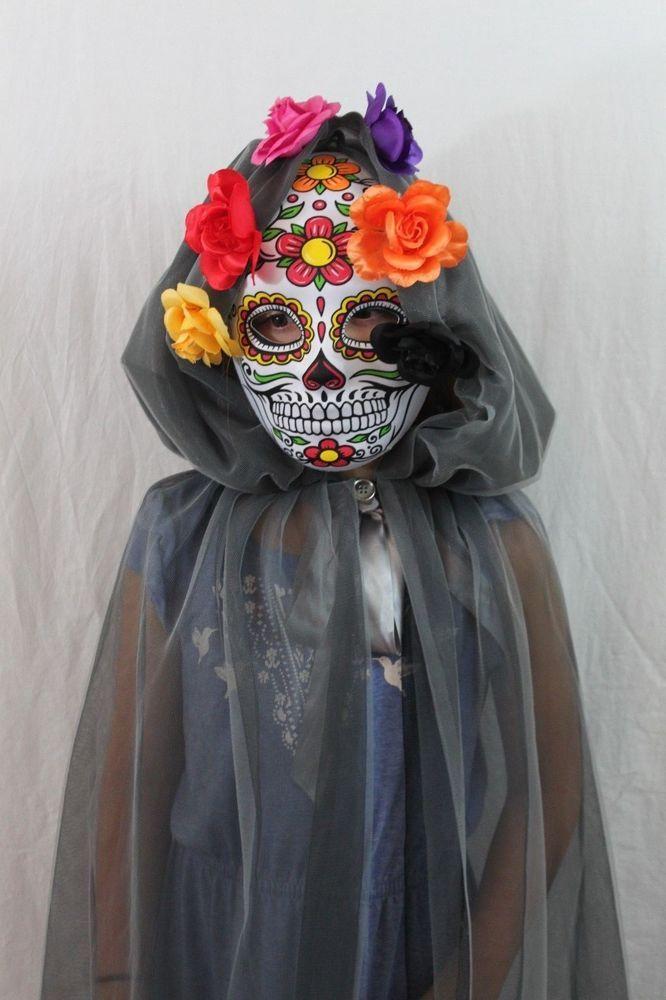 Day of the Dead Catrina Dia De Los Muertos Halloween Costume Zombie Mexican NEW…
