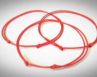 Red string pulsera de protección la suerte pulsera amistad