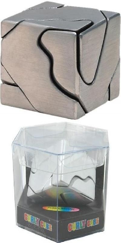 Other Contemporary Puzzles 2615: Curly Cube - Brain Teaser Metal Puzzle -> BUY IT NOW ONLY: $30.95 on eBay!